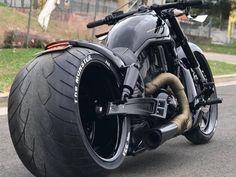 """Harley-Davidson V Rod Australia """"Black"""" by DGD Custom - Motorcycles Harley Davidson Night Rod, Harley Davidson Chopper, Harley Davidson Sportster, Harley Davidson Custom, Harley Davidson Street Glide, Sportster 1200, Vrod Custom, Custom Harleys, Custom Motorcycles"""