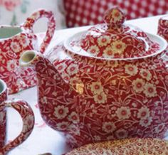Red Calico Large Teapot http://www.annmarie.com/product.asp?itemid=396gclid=CKGisNG2yr0CFW1nOgodZFgASQ