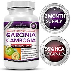 Evergenics Pure Garcinia Cambogia Extract 95 HCA Weight Loss Formula  2 Month Supply  120 Capsules *** You can find out more details at the link of the image.