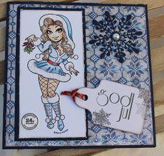 Kari Anne's hobby Marianne Design, Aktiv, Magnolia, Boxer, Christmas Cards, Princess Zelda, Manga, Fictional Characters, La La Land