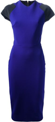Fitted Dress - Lyst