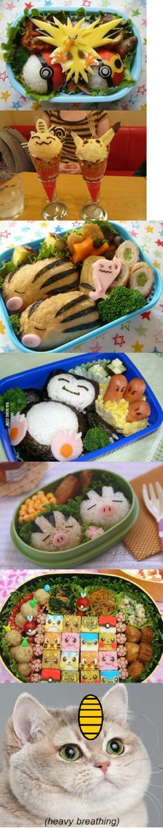 How could you eat these, they're so cute? Pokemon themed food (this is so Japan) Cute Food, Yummy Food, Pokemon Party, Pokemon Pokemon, Pikachu, Food Themes, Japanese Food, Food Art, Kids Meals
