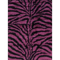 Persian-rugs Tobis Modern Shag Zebra Purple Area Rug