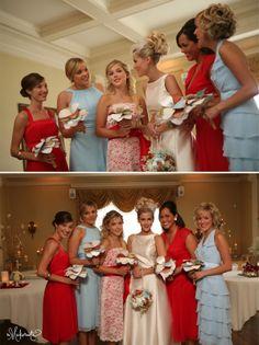 Bridesmaids - Red + Blue   The Makerista