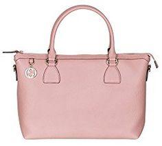 28262292148 Gucci Soft Pink Calf Leather GG Pendant Hobo Shoulder Bag