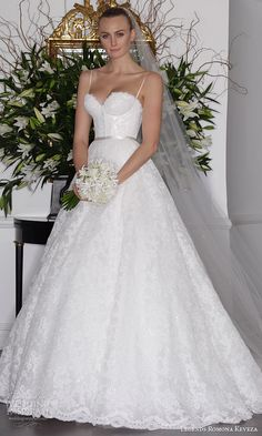 legends romona keveza fall 2016 elegant lace wedding dress spaghetti straps corset bodice detachable ball gown skirt