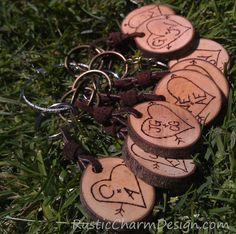 Personalized Wedding Favors - Keepsake Keychains by Rustic Charm Design