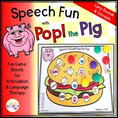 Pop the Pig Speech and Language Fun EARLY words! Early developing speech sounds, vocabulary and more!
