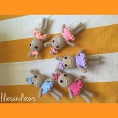 Crochet bunny dolls by liliesandbows