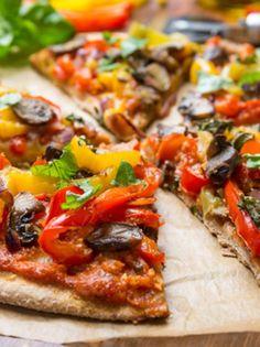 Χορτοφαγική πίτσα με αραβική πίτα - www.olivemagazine.gr