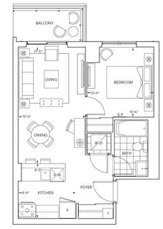 Suite 1D1: 1 Bedroom, 1 Bathroom, 531 sq. ft. in 7 different elevations. - - - Roehampton | Luxury Apartment  Rentals at Eglinton & Mt. Pleasant in Toronto