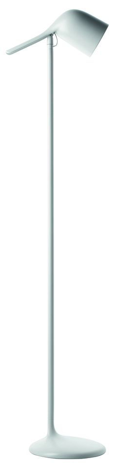 """Colibri Floor Lamp Laterally and vertically adjustable batch-dyed polycarbonate diffuser. Extruded aluminum rod, die cast zinc alloy joint and base with laser-cut metal ballast, which are epoxy powder coated. Specifications Overall: 9.8"""" W x 13.75"""" D x 57.1"""" H CABLE LENGTH: 98.4"""""""
