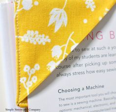 Easy Fabric Bookmark | Simple Simon and Company