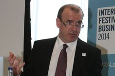 Liverpool-born Sir Terry Leahy, former chief executive of Tesco, speaking at an IFB 2014 event in Liverpool