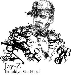 Evan Roth Typographic Illustration for Jay-Z