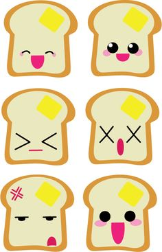 The many faces of Toast by Mokulen22.deviantart.com on @deviantART