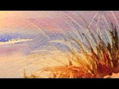 Sand Dune Painting in Watercolor