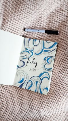 Bullet journal july cover.