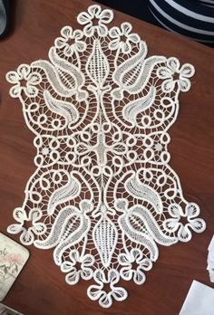 Machine Embroidery Patterns, Lace Embroidery, Lace Patterns, Embroidery Designs, Crochet Patterns, Crochet Motif, Irish Crochet, Crochet Lace, Rock Crafts