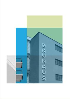 Architecture Poster Retro Poster Bauhaus by visualphilosophy