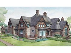 Capped by a picturesque double chimney and distinguished by its distinctive roof lines and patterned brick, stone, and siding, this beautiful Visbeen Architects home draws inspiration from Tudor and Shingle styles, two of the world's most enduring archite