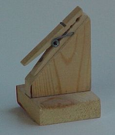 Message pin or recipe holder for scouts.