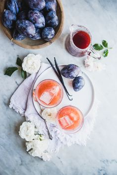 Vanilla Plum Shrub | The Modern Proper