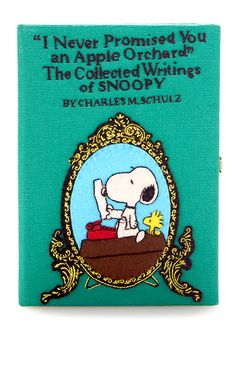 Snoopy Apple Orchard Book Clutch by OLYMPIA LE-TAN for Preorder on Moda Operandi