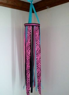 Ribbon Craft: How to Make a Ribbon Wind Sock possible hair pretty holder? You could make these for boys top.