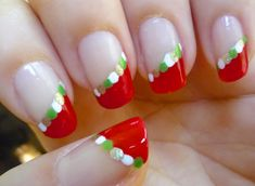 Easy and Beautiful Holiday Nails - Nail art Tutorial holidaynails Holiday Nail Art, Christmas Nail Designs, Christmas Nail Art, Jamberry Christmas, Christmas Colors, Christmas Christmas, Love Nails, Fun Nails, Pretty Nails