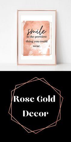 Gold Bedroom Decor, Bedroom Artwork, Gold Home Decor, Rose Gold Wall Art, Rose Gold Decor, Rose Gold Interior, Dressing Room Decor, Feminine Decor, Digital Print