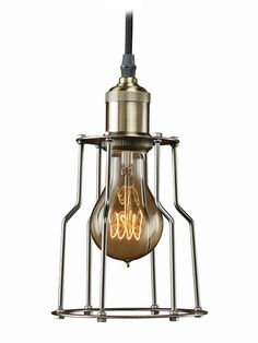 Nostalgic 1-Light Pendant Lamp by Bulbrite at Gilt
