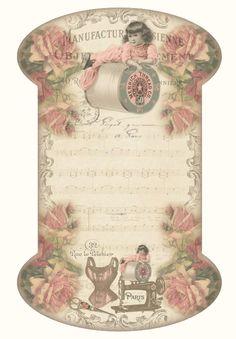 JanetK.Design Free digital vintage stuff: Kantkaartje en leuke Linken.  Freebies for DIY paper crafting.
