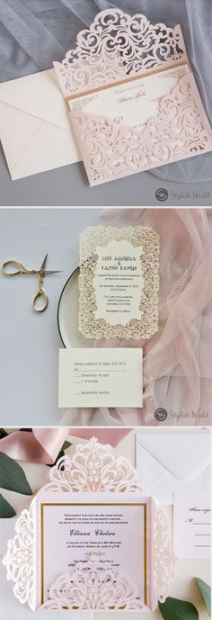 pink invitations #wedding #weddinginvitations#stylishwedd #stylishweddinvitations