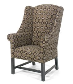 "Early american style chair.  ""Walkers Ford"", shown in Lovers Knot Fabric."