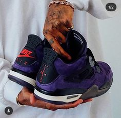 low priced 093a6 a9671 Jordan 4, Travis Scott, Air Jordans, Sneakers Nike, Purple, Running Shoes