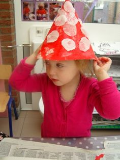 Diy For Kids, Crafts For Kids, Mushroom Crafts, 23 November, Drawing Lessons, Kindergarten, Stuffed Mushrooms, Preschool, Seasons