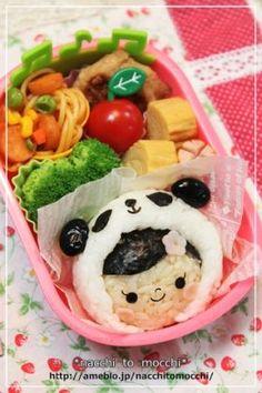 panda girl onigiri obento パンダの女の子のキャラ弁