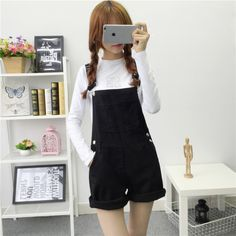 1d6c1885f43 Kesebi women summer lovely jumpsuits 2016 denim overalls shorts D403A 8030