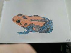 Frog pen drawing