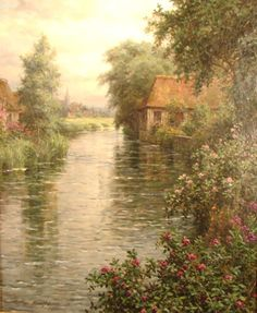 Aston Knight Signed Oil Painting on Canvas, flowe