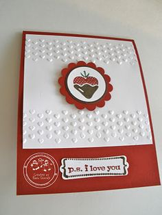 Stampin' Up! My P.S. I love you card!!