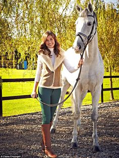 Equestrian- I absolutely love this. Her riding clothing is so cute and the horse is beautiful.