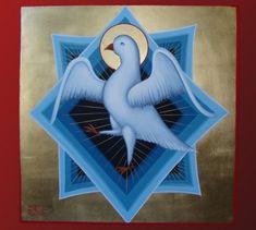 Byzantine Iconography - Wallpainting Byzantine Icons, Byzantine Art, Religious Icons, Religious Art, Art Icon, Holy Family, Orthodox Icons, Roman Catholic, Holy Spirit