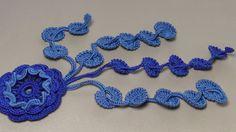 УРОК ВЯЗАНИЯ.Элемент для ирландского кружева.Crochet flower pattern.Iris...