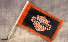 """Harley Davidson Shield Black Flag 12""""""""x 18"""""""""""