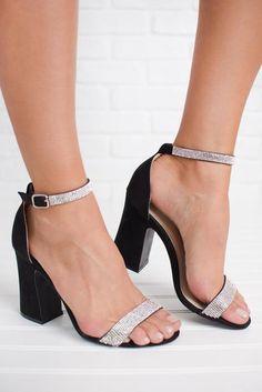 0a3bb7ebd Bright Lights Glitter Heels (Black) Black Glitter Heels