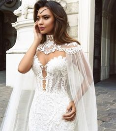 What a look! #bride #bridetobe #Bridesmaids #BrideOfTheWaterGod #WeddingDayWinners #weddingdress #dress