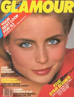 Kim Alexis covers Glamour Magazine (US) January 1983