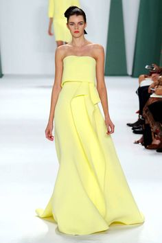 Carolina Herrera Spring 2015. See all the best looks from #NYFW here: